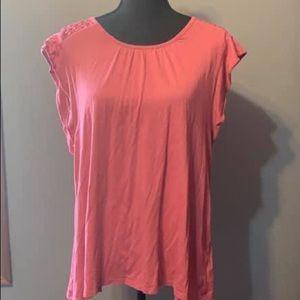 Coral Pink Sleeveless Shirt